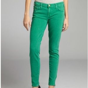 Current Elliot green ankle skinny jeans NWT